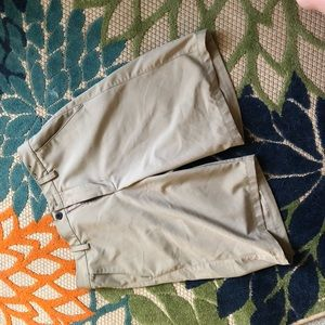 Men's khaki gold shorts